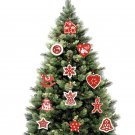 Rustic Wooden Christmas Tree Pendant