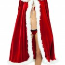 Christmas dances red cloak adult children red sexy cape