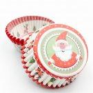 Christmas printed cake cups