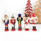 Five hand-painted Christmas tree pendants