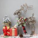 Christmas American Pine Cone Christmas Elk Shine Desktop Decoration
