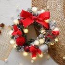 Multicolor Christmas Pendant LED Light String Wreath Package Decoration