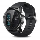 Smart watch with dual time zone display