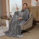 Warm Blanket Long Coral Fleece Blanket With Sleeves Coral Fleece Pocket