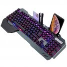 Mechanical Keyboard RGB LED Backlight Plug And Play Ergonomic Design Waterproof