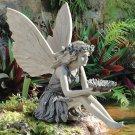 Fairy Sitting Garden Statue Ornament Decoration Resin Crafts Decor
