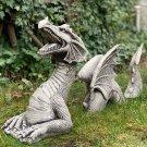 Large Dragon Gothic Garden Decor Statue Castle Moat Lawn Statue Garden