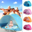 Baby Beach Tent Kids Outdoor Camping Easy Fold Up Waterproof Pop Up Sun Awning Tent UV-protecting