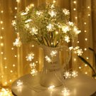 Snowflake String Light Garlands Ornaments Christmas Tree Decorations