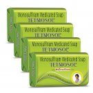 Tetmosol Medicated Soap- fights skin infections, itching soap 100 gm Pack of 4