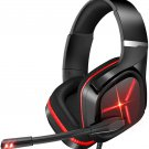 Gaming Headset Xbox Headset with Mic 3D Surround Sound Stereo, Noise Immunity Swivel Mic & LED Light