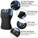 Mens Body Shaper Polymer Sweat Vest Waist Trainer Slimming Shirt Workout