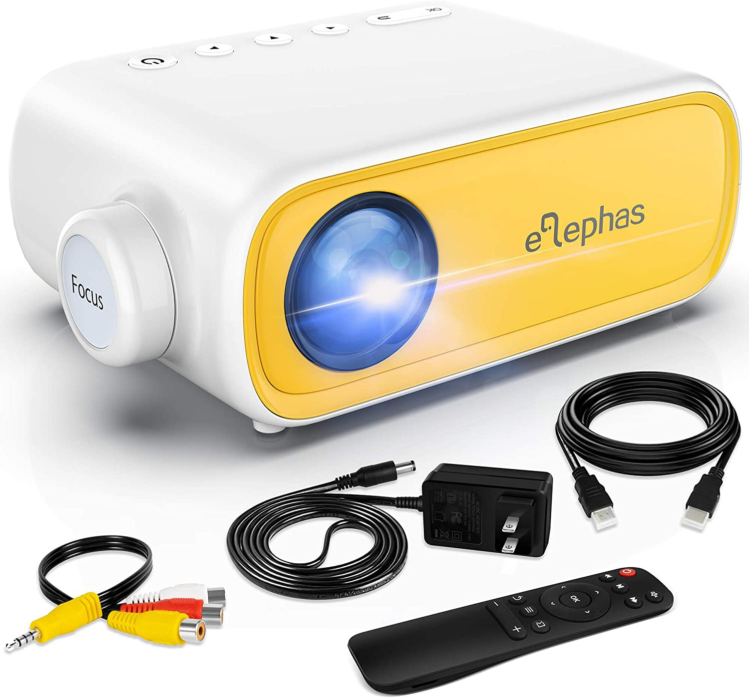 Mini Projector, Portable Projector for iPhone, Video Smart Led Pocket Pico Small Home