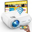 WiFi Projector Native 1080p, 7500L Movie Projector with High Contrast of 8000:1, Home Projector,
