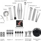 Cocktail Shaker Set 35-Piece Bartender Kit with Rotating 360° Display Stand