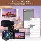 Video Camera 4K Camcorder Digital FHD WiFi Vlogging