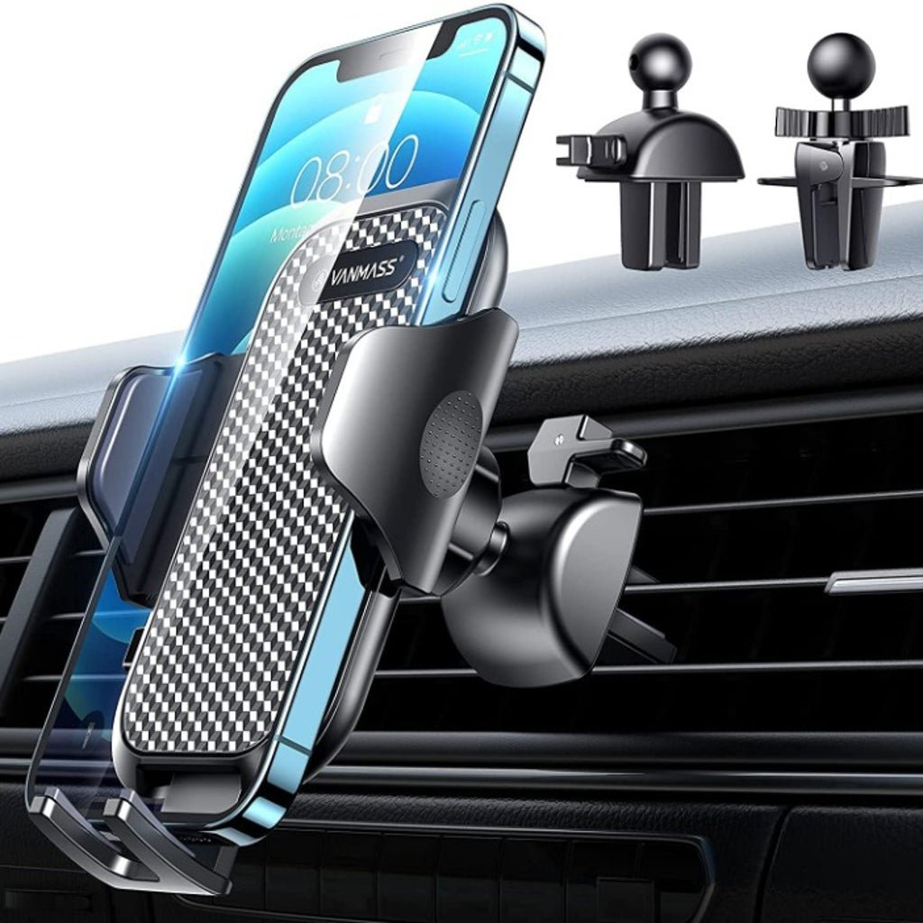 Car Phone Mount, [Newest Ultra Stable Clip] Air Vent Cell Phone Holder for Car
