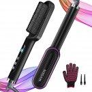 Fast Heating Hair Straightener Brush - 3-in-1 Digital Display