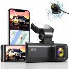 Dual Dash Cam Built-in WiFi GPS Front 4K/2.5K and Rear 1080P Dual Dash