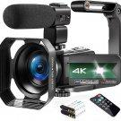 Video Camera, 4K Camcorder WiFi Ultra HD 56MP
