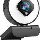 Streaming Webcam with Light - HD 1080P Autofocus