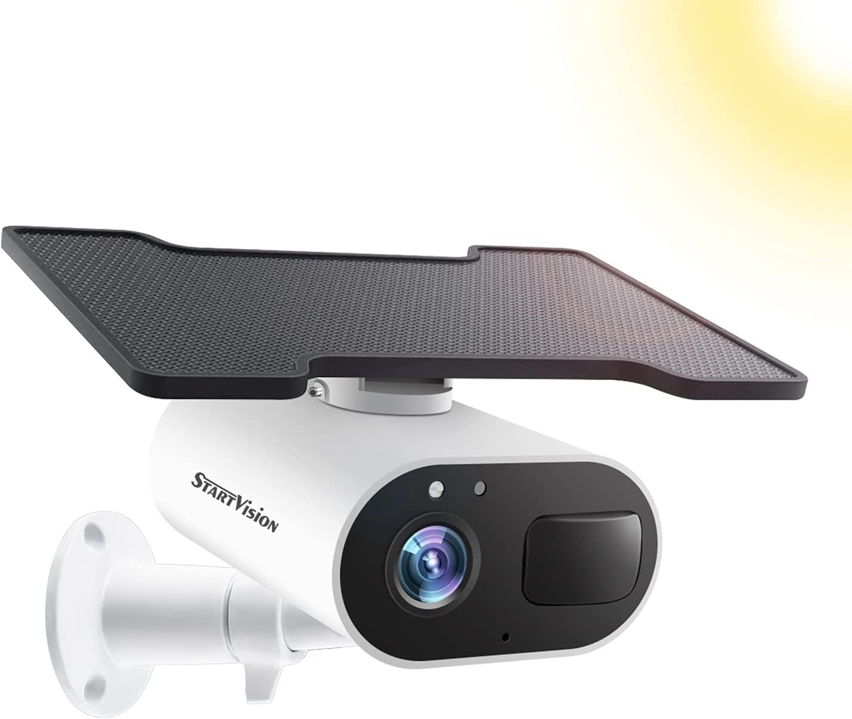 Wireless Security Camera Outdoor, Solar Powered Battery Camera