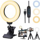 Video Conference Lighting Kit, Ring Light for Computer with Tripod