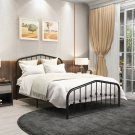 Full Size Bed Frame Metal Platform Mattress Foundation with Headboard Footboard
