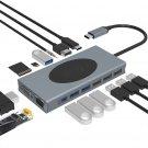 Docking Station,15 in 1 USB C Hub with Wireless