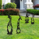 4PCS Large 20.9in Steel Garden Gnomes Decoration