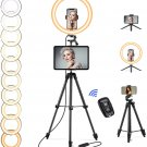 12.6'' Selfie Ring Light, Selfie Ring Light with Tripod Stand
