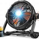 Outdoor Floor Fan with Light 14400mAh 12-Inch Large Battery