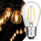Outdoor String Light Bulbs, ECOVANIA 2W LED S14