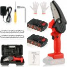 Mini Cordless Chainsaw Kit with 2 Batteries and 2 Chains