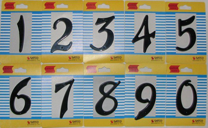 Case of 240 House Numbers