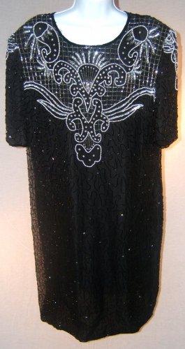 Women Plus Size Beaded Dress Size 2X