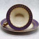Vintage German J. Seltmann Bavaria Porcelain Bone China Blue Cup and Saucer 1949-1955