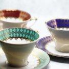 Set of 3 Vintage German J. Seltmann Porcelain Bone China Cup and Saucer