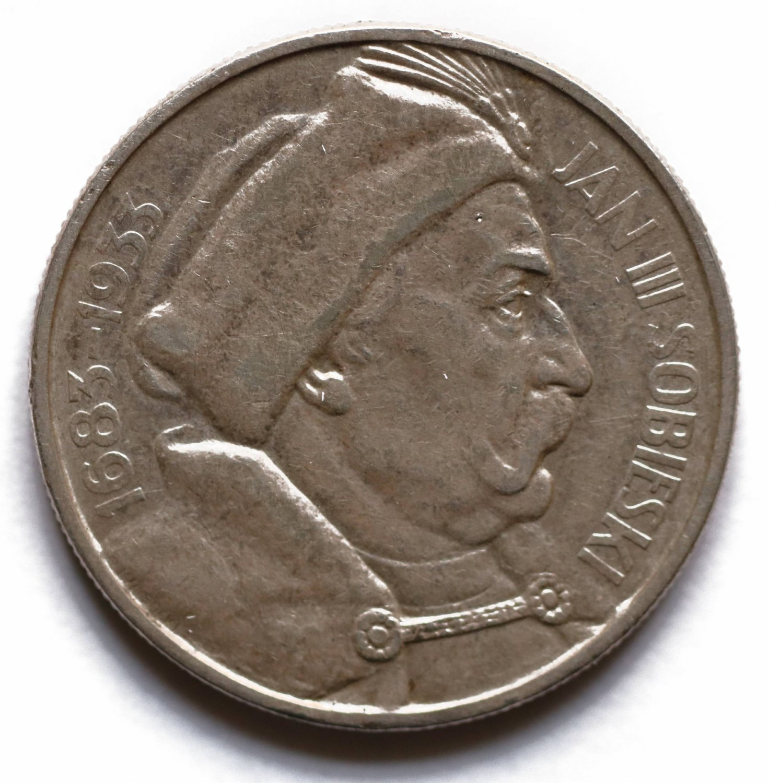 1933  Poland Silver Coin 10 Zlotych Zloty Zlote - Jan III Sobieski KMY#23