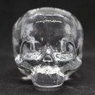 Kosta Boda Skull Candle Holde Crystal Glass Swedish Scandinavian Design
