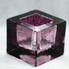 Kosta Boda Brick Candle Holde Lantern Crystal Purple Glass Swedish Scandinavian Design