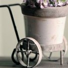 MINI PLANTER ON IRON STAND - BUTTERCREAM