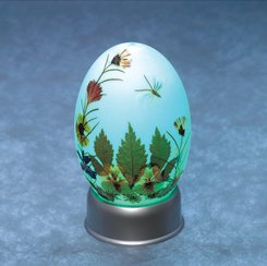 DRIED FLORAL EGG NOVELTY LAMP