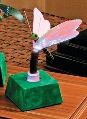 FIBER OPTIC MINI DRAGONFLY NOVELTY LAMP
