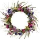 "PANSY AND WILDFLOWER WREATH - 16""D"