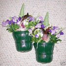 ELEGANT HOMCO BASKET WALL POCKET FLORAL ARRANGEMENTS