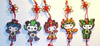 Fortune Olympics Fuwa (Chinese knot ornament)