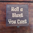 Roll a blunt design Weed Box Stoner Gift Cannabis 420 engraved stash box