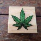 personalised natural leaf design motif Weed Box Stoner Gift Cannabis 420 engraved stash box