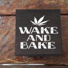 Black wake and bake Weed Box Stoner Gift Cannabis 420 engraved stash box